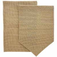 "Juvale 6-Pack Blank Burlap Garden Flag for DIY Decor, 2 Shapes, 17.7"" x 11.8"""