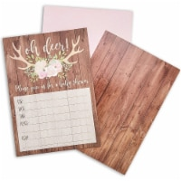 Oh Deer Rustic Woodland Baby Shower Invitations and Envelopes (36 Pack) - PACK