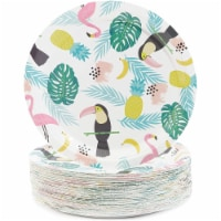 Sparkle and Bash Paper Tropical Party Paper Plates, Pack of 80, 9 Inches - PACK