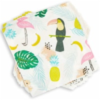 Tropical Paper Napkins for Birthday Party (6.5 x 6.5 In, 100 Pack) - PACK