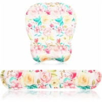 Floral Mouse Pad with Wrist Support, Office Desk Accessories (2 Pieces) - PACK
