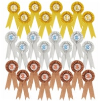 24-Pack Award Ribbons, 1st, 2nd, and 3rd Place Recognition, Gold, Silver, Bronze - PACK