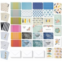 Assorted Thank You Cards Bulk, Blank Greeting Notes with Envelopes (4x6 In, 144 Pack) - PACK