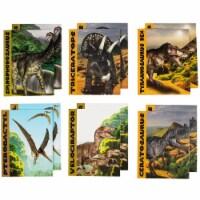 Dinosaur Pocket File Folders for Kids, School Supplies (9.2 x 12 In, 12 Pack) - PACK