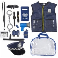 Halloween Costumes for Kids, Police Officer Uniform Costume (13 Pieces) - Pack