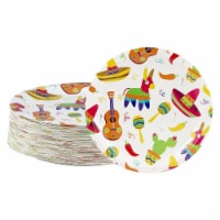 Fiesta Paper Plates, Cinco de Mayo, Mexican Party Decorations (9 In, 80 Pack) - PACK