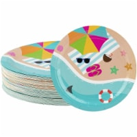 80-Pack Disposable Paper Plates, Summer Beach Party Supplies for Dinner, 9 Inch - PACK