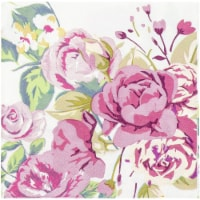 Vintage Floral Party Supplies, White Paper Napkins (6.5 x 6.5 In, 150 Pack) - PACK