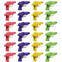 24 Pack Mini Plastic Water Squirt Guns Toys in Assorted Colors, for Kids Party, Ages 3 and Up