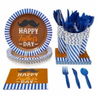 24 Set Dinnerware Happy Father's Day Party Supply for Dad Father Themed Parties - PACK