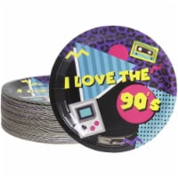 Paper Plates for 90s Party Supplies for Birthdays (9 Inches, 80 Count) - PACK