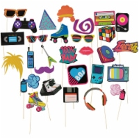 30-Pack 1980s Theme Party Photo Booth Selfie Props Event Birthday Decorations - PACK
