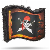 Small Pirate Flag Pinata for Kid's Birthday Party, Cinco de Mayo (12 x 15.7 x 3 In) - PACK