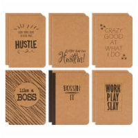 Small Kraft Notebook Journals, Motivational Quotes, 80 Pages (6 Designs, 12 Pack) - PACK