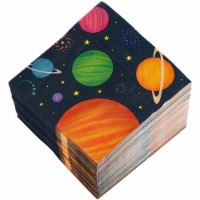 Blue Panda Outer Space Party Decorations, Planet Napkins (6.5 x 6.5 in, Navy, 150 Pack) - PACK
