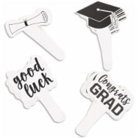 Congrats Grad Cupcake Topper, Graduation 2021 Party Supplies (100 Pack) - PACK