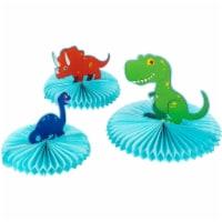 3PCS Dinosaur T-Rex Honeycomb Table Centerpiece Boys Birthday Party Decoration - PACK