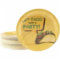 Cinco De Mayo Paper Plates, Let's Taco Bout a Party (9 In, 80 Pack) - PACK