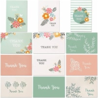 Thank You Note Cards, Floral Greeting Card Set with Envelopes (4 x 6 In, 96 Pack) - PACK