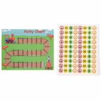 Train and Railroad Themed Toilet Potty Training Reward Chart Kit for Toddlers
