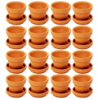Juvale Small Terra Cotta Pots with Saucer- 16-Pack Clay Flower Pots with Saucers - Pack