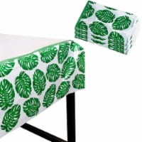 """3-Pack Plastic Rectangular Tablecloth Tropical Palm Leaves Table Covers 54""""x108"""""""