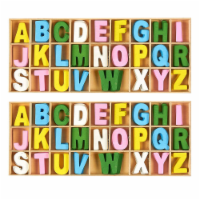 260-Piece Wooden Craft Alphabet Letters with Storage Tray Set, Multicolor 1 Inch