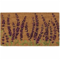 Lavender Plant Welcome Mat, Natural Coir Doormat (30 x 17.2 x 0.5 in) - Pack