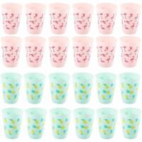 24pcs 16oz Reusable Tumblers Party Favor Plastic Cups Flamingo Pineapple Design - PACK