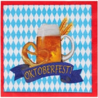 Oktoberfest Party Napkins, Bavarian Flag and Beer Design (6.5 Inches, 100 Pack) - PACK
