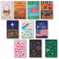 10-Pack Garden Flags Banners, Outdoor Lawn, for Thanksgiving, Christmas