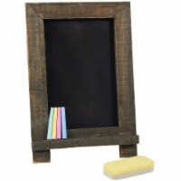 Chalkboard Sign with Chalk Markers and Eraser (14.25 x 9.6 x 10.2, 6 Pieces) - PACK