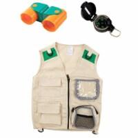 Blue Panda 3-Piece Set Kids Outdoor Nature Adventure Explorer Kit, Vest, Compass