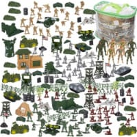 300 Piece Army Action Figure Set, Military Toy Soldier Playset with Tank  Plane