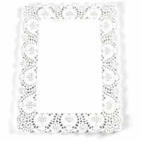 Rectangular Paper Doilies for Placemats, Cakes, Desserts  (White, 15.5 x 11.7 In, 100 Pack) - PACK