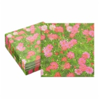 Pink Daisy Paper Napkins for Birthday Party Decorations (6.5 x 6.5 In, 100 Pack) - PACK