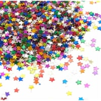 Metallic Star Party Confetti for Table Decor, DIY Crafts, Multicolor, 0.1 , 7 oz - PACK