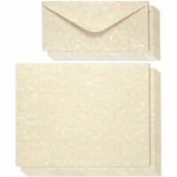 48 Antique Parchment Paper Letter Set w/Envelopes Vintage Cream Color, 8.5 x11 - PACK
