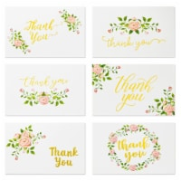 Floral Thank You Cards with Envelopes for Baby Shower (4x6 In, 48 Pack) - PACK