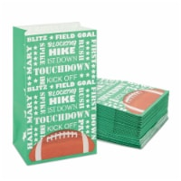 Football Party Favor Bags for Kids Sports Birthday Supplies (Green, 36 Pack) - PACK