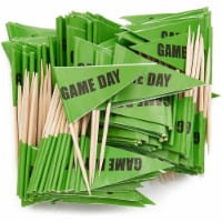 Sports Party Toothpicks for Appetizers (Green, 200 Pack) - PACK
