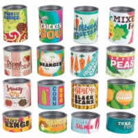 16-Piece Grocery Store Kids Pretend Play Stackable Cardboard Cans Toy Foods