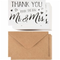120 Pack Wedding Thank You Greeting Cards with Brown Envelopes in Bulk, 4x6 In. - PACK