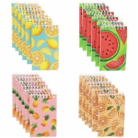Juvale Mini Spiral Notebooks with 4 Fruit Designs (3 x 5 Inches, 24-Pack) - PACK