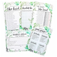 5-Pack Bridal Shower Games - Set of 5 Games for Wedding Party Supplies - Pack
