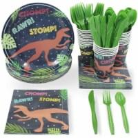 Dinosaur Party Supplies, Disposable Dinnerware Set (Serves 24, 144 Pieces)
