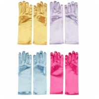4-Pair Princess Gloves for Little Girls Dress Up for Wedding Flower Girl Parties