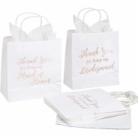 11pcs Bridesmaid Wedding Gift Bags Tissue Paper+1 Maid of Honor For Bridal Party - PACK