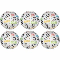 6-Pack Soccer Paper Lantern, Hanging Decoration for Sports Theme Party, 11 - PACK