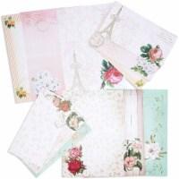 Floral Vintage Stationery Letter Paper and Envelopes Set (90 Pieces) - PACK